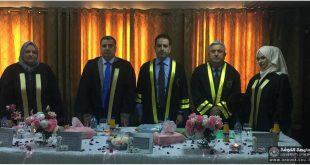 تدريسي من كلية طب الأسنان في جامعة الكوفة  يترأس لجنة مناقشة في جامعة بغداد.